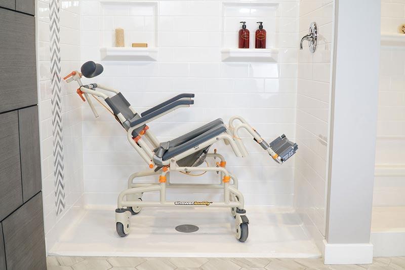 Showerbuddy - Roll-InBuddy SB3T product for bathroom mobility