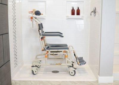 Roll-InBuddy Tilt SB3T in roll-in shower