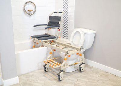 TubBuddy SB2 chair in bathtub
