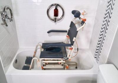 TubBuddy Tilt SB2T chair in bathtub